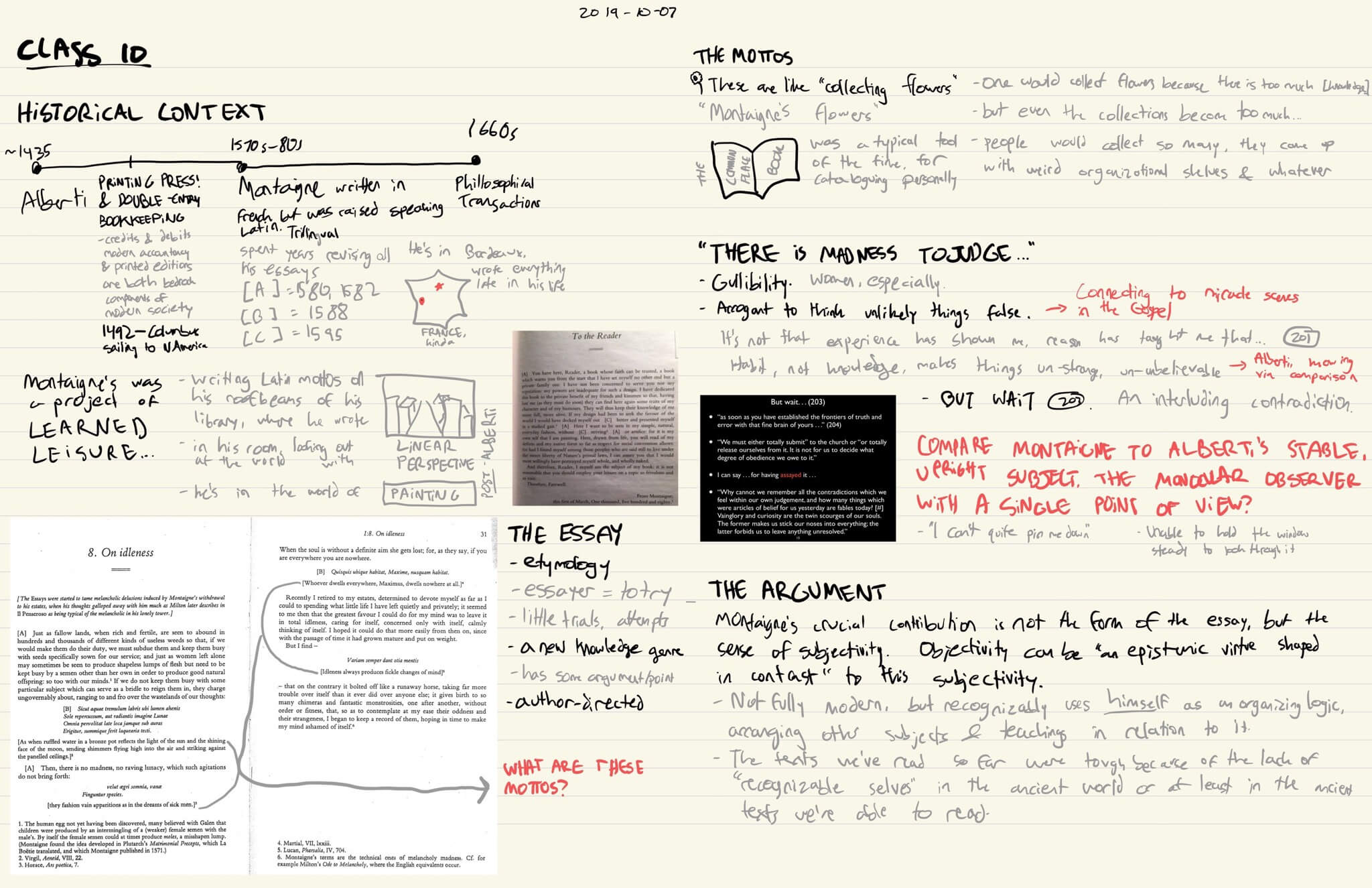A two-page spread in GoodNotes of my class notes