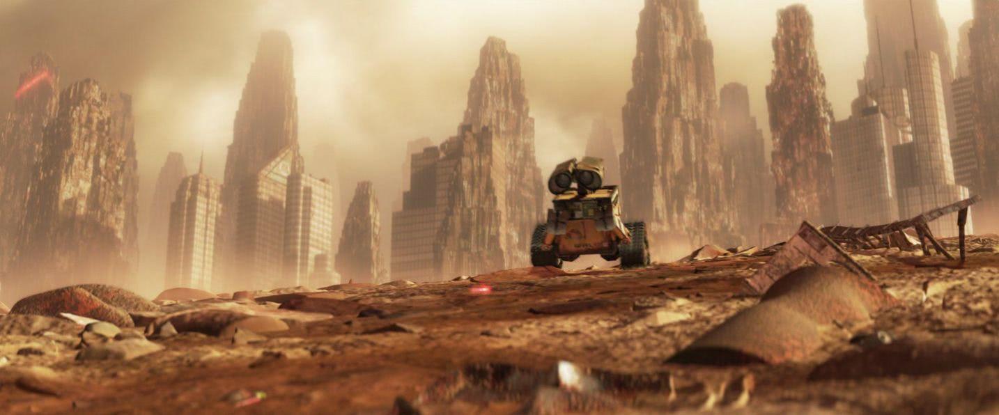 Landscape scene of WALL-E