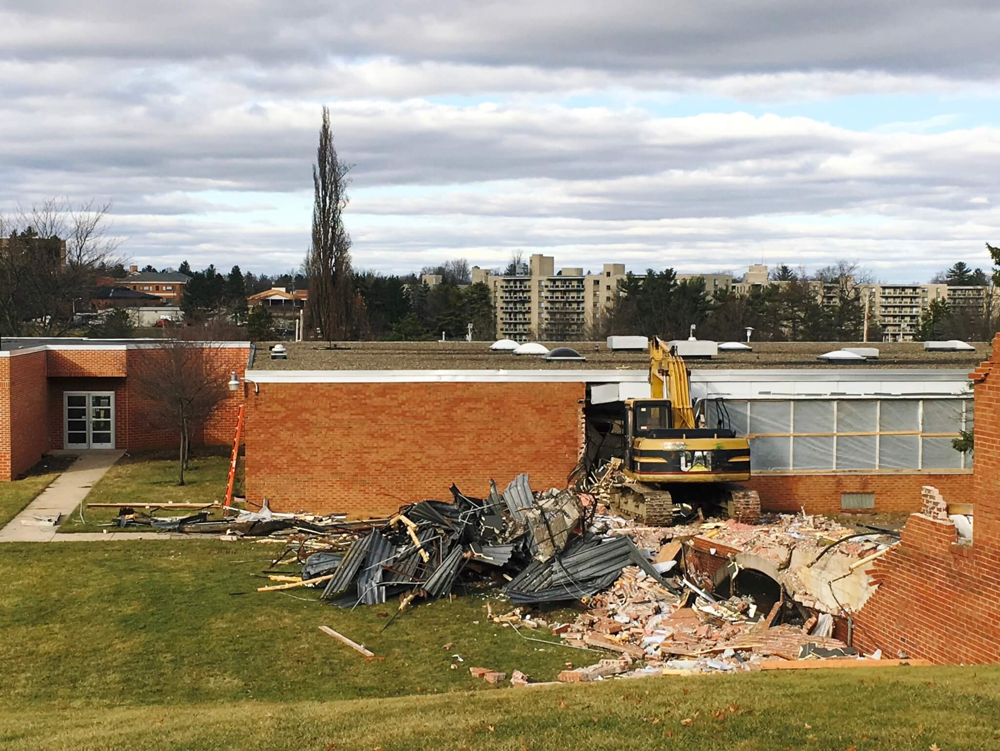 My high school under demolition