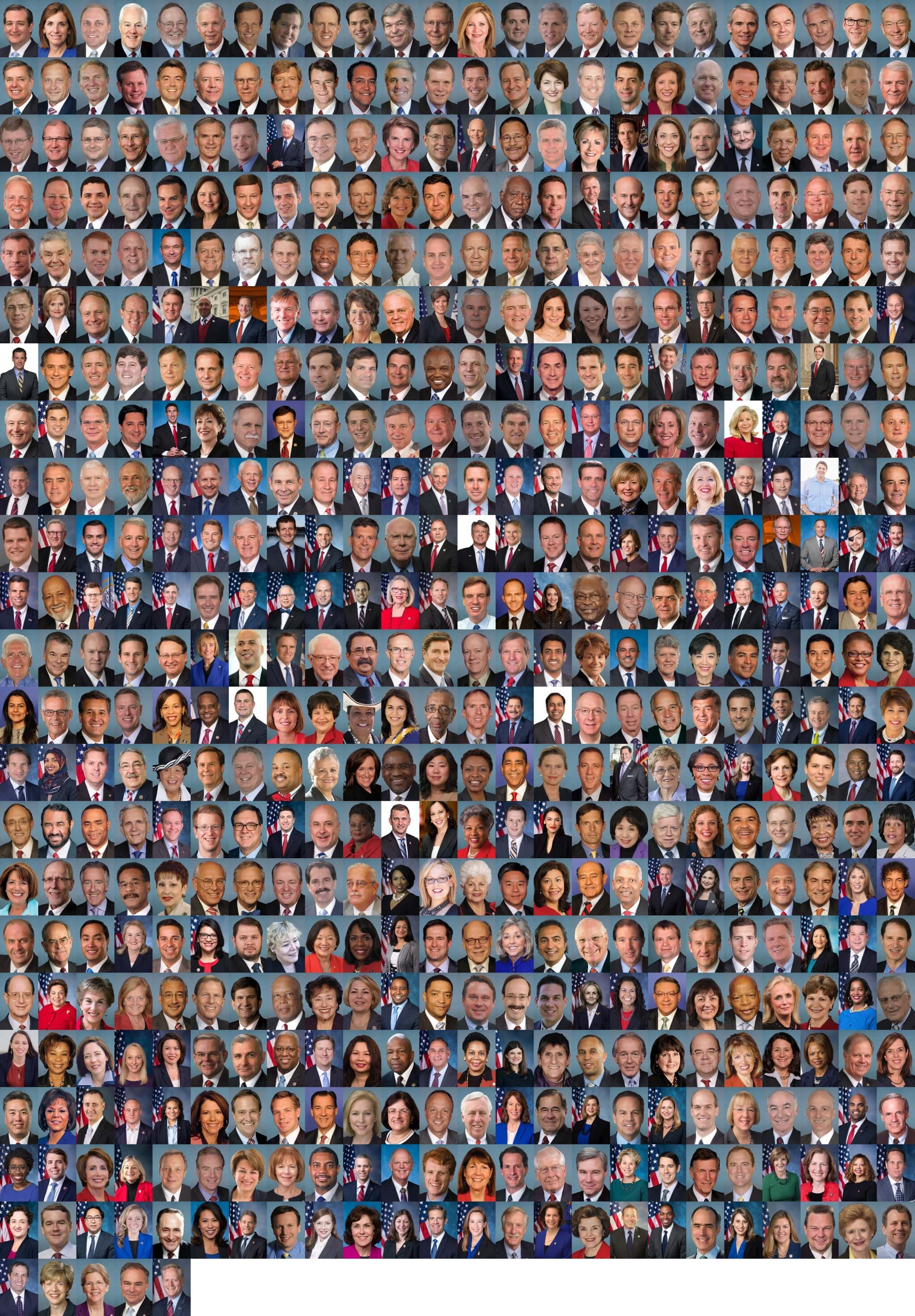 Grid of every Congressperson's portraits