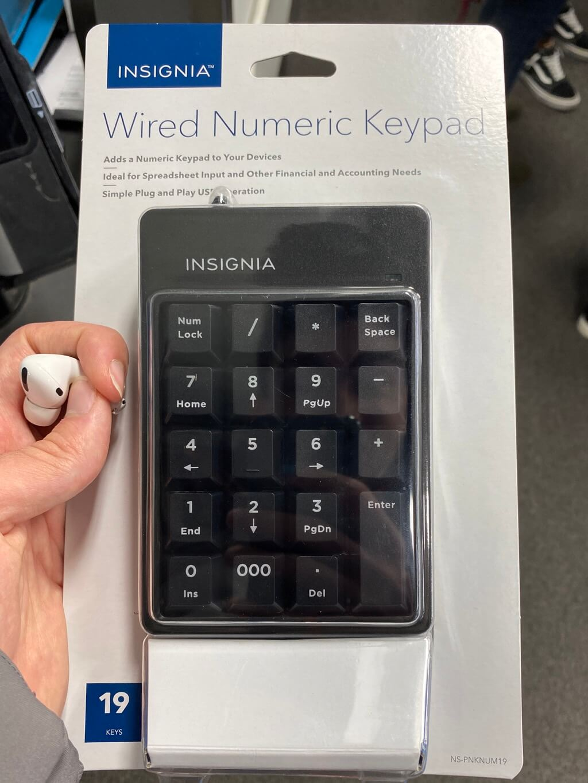 Numeric keypad in packaging at Best Buy